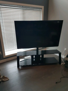 70 inch sharp and black glass stand