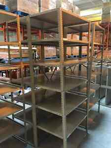 Industrial metal shelving. 4' x 7'. Great for garage, warehouse