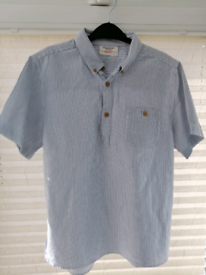 Blue & white striped shirt aged 11 - 12