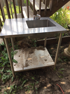 Sink and table