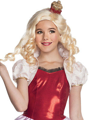 Child Monster Ever After High Apple White Wig & Headpiece Outfit Fancy Dress Kid