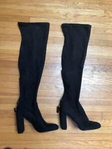 STEVE MADDEN OVER THE KNEE BOOTS BLACK **SIZE 10** LIKE NEW