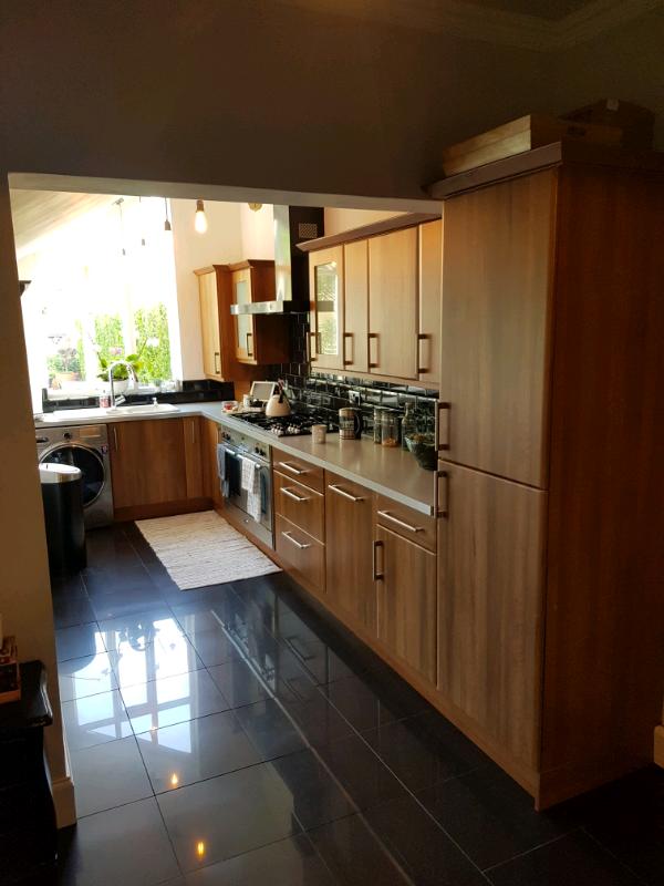 Walnut shaker style kitchen cabinets | in Eaglescliffe, County Durham | Gumtree