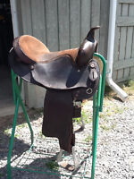 Quarter horse bars saddle for sale