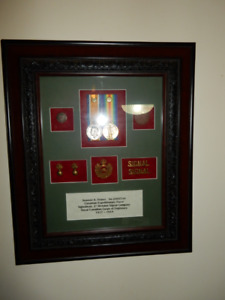 Three Canadian Military Framed Groupings
