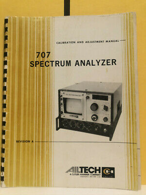 Ailtech 707 Spectrum Analyzer Calibration And Adjustment Manual