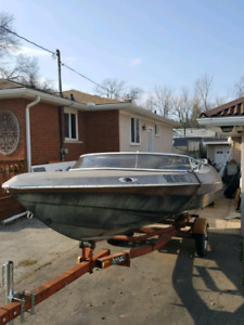 80s sidewinder boat and trailer