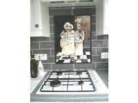 Custom kitchen splashback ceramic tile murals