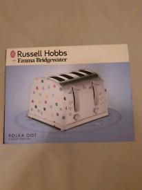 Brand new russell hobbs emma bridgewater polka dot 4 slice toaster