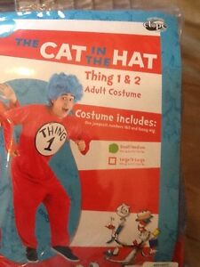 Thing 1 or 2 Costume Adult Small