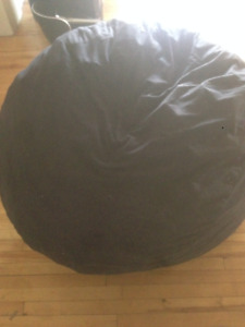 Velvet Charcoal Foam Bag Chair