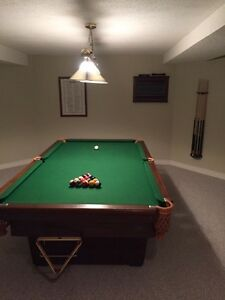 Full size slate Pool Table and Accessories