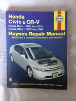 Haynes Repair Manual - Civic 2001-2010 - CRV 2002-2009