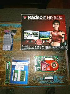 Computer video cards and ram