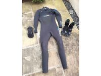 Winter Wetsuit, boots and gloves