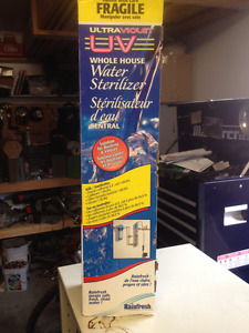 NEW NEVER USED, Rainfresh UV system whole home water sterilizer