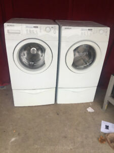 Brada white front load washer and dryer for sale