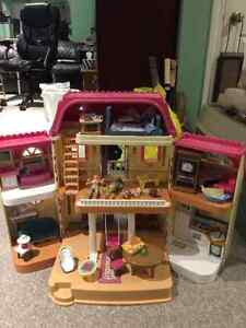 Fisher Price Folding Dollhouse and Accessories