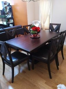 formal solid wood dining table - 6 chairs Windsor Region Ontario image 1