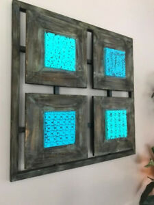 turquoise and teal wall art