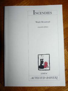 Livre : Incendies de Wajdi Mouawad (Leméac)