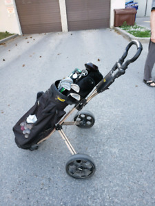 Bag Boy Golf Cart and Clubs plus more