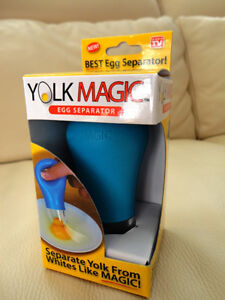 """Yolk Magic"" Egg Yolk Separator -Brand New In the Box"