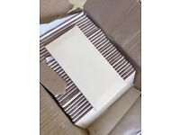 30 Cream bevelled edged subway tiles / kitchen tiles