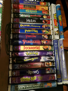 41 Disney and other VHS cassettes