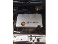 Vauxhall vectra c 1.8 16v complete engine gearbox