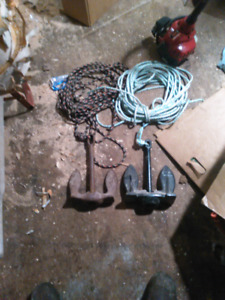 Two boat anchors