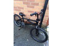 CUSTOM BMX BLACK FRAME CUSTOM CRANK