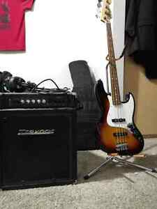 *LOWERED $* Fender Jazz Bass with Traynor Bass Amp + Extras.
