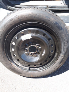 Temporary tire from a dodge caravan