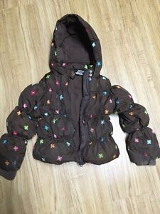 Girls winter coat-some stains.
