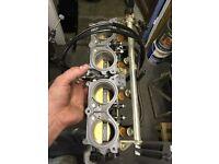 CBR600 throttle bodies injectors fuel rail.