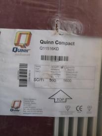 New sealed QUINN compact white radiator 500 x 1600