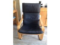 Leather IKEA chair