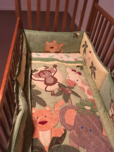 Crib, Mattress and Bedding For sale