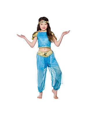 Child Arabian Princess Outfit Fancy Dress Costume Book Week Jasmine Kids - Childs Jasmin Kostüm