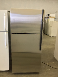 "30"" Stainless Steel Magic Chef Fridge and Freezer"