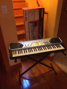 CASIO ELECTRONIC KEYBOARD CTK-491/ KEYBOARD STAND