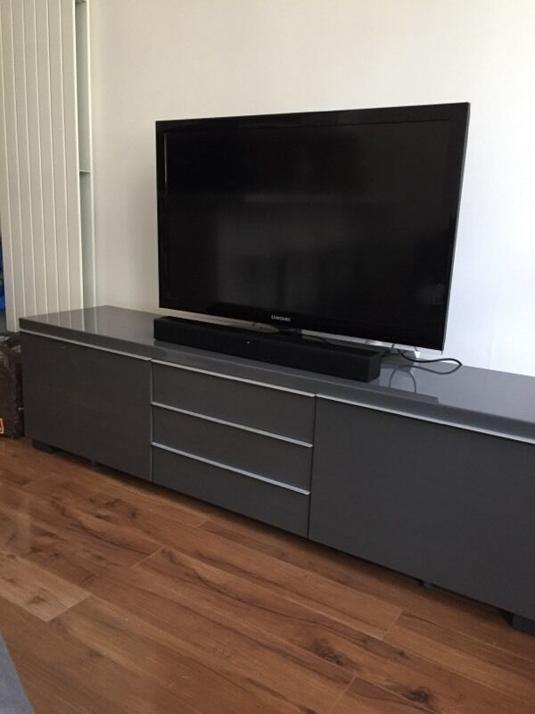 ikea besta burs tv unit grey in merchiston edinburgh gumtree. Black Bedroom Furniture Sets. Home Design Ideas