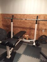 Nautilus Bench, Olympic Bar, Roman Chair and Olympic Weight!!!