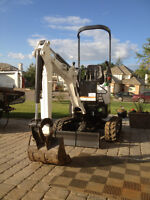 Mini Bobcat 418 Excavator available for Rent or Hire