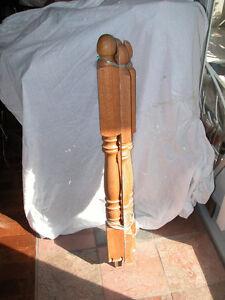 """39.5"""" Tall Solid Oak Newel Posts"""