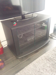 MOVING SALE! Glass door TV stand