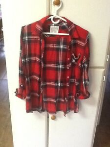 2 girls size 16 Justice button-down plaid shirts London Ontario image 3