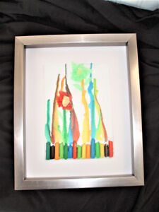 3 DIMENSIONAL FRAMED PICTURE, COLLAGE MADE BY FELIX - ORIGINAL
