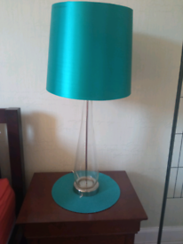 2 table top lights, glass base £8 the lot
